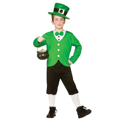 Childrens Boys Funny Leprechaun Costume for St Patricks Days Ireland Fancy Dress